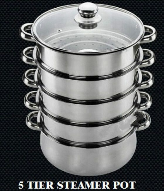 FREE SHIPPING STEAMER POT kitchen steamer inox pot cooking utenstil stainless steel steamer ultralarge steaming tray 28-40cm
