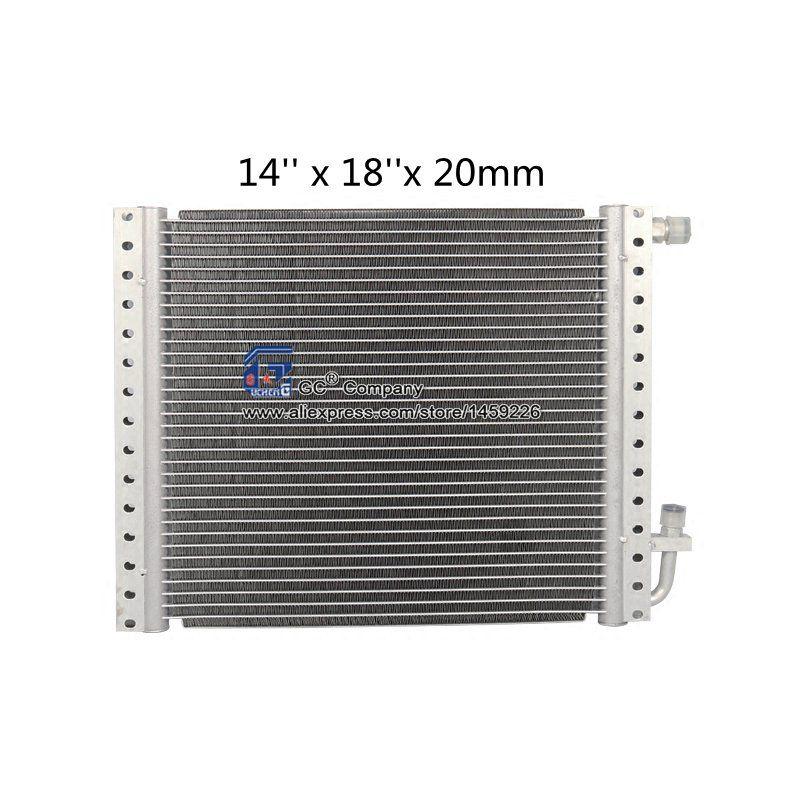Universal Radiator Aluminium Condenser 14'' x 18'' x 20mm for Vintage Car Truck Radiator Parts A/C Conditioner