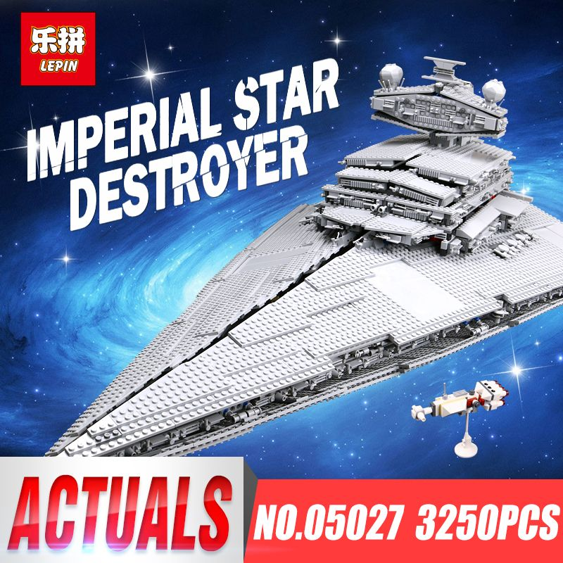 LEPIN 05027 Emperor Fighters Ship Star Toy War legoINGys 10030 Destroyer Starship Building Blocks Brick Children Toy 05028 10221