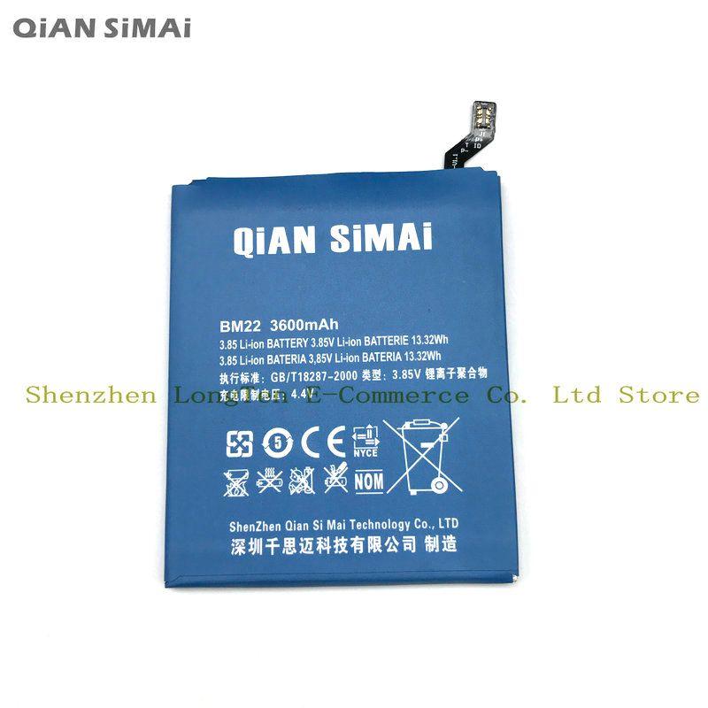 QiAN SiMAi 1 pcs 100% Haute Qualité BM22 3600 mAh Batterie Pour xiaomi 5 mi5 m5 mi 5 téléphone Mobile Livraison Gratuite + Code De Suivi