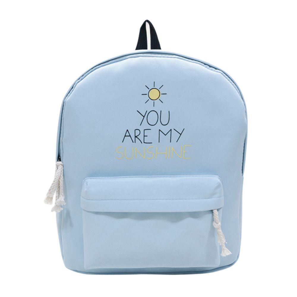 Горячая холст рюкзак Письмо печати рюкзак Для женщин элегантный дизайн Школьные ранцы для подростков Mochila Рюкзаки для девочек-подростков
