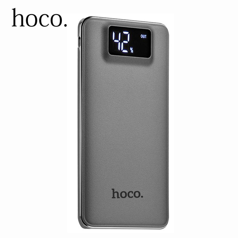 Original HOCO Energienbank 10000 mAh Dual USB LCD Display Externe Unterstützungsbatterie power für handy Universal-ladegerät