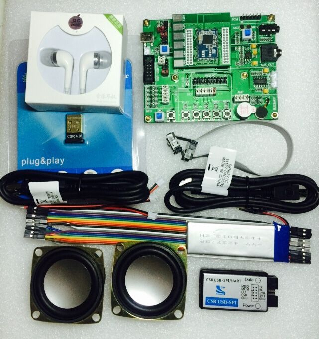 CSR8675 development board contains USB-SPI-S downloader package supporting ADK4.1/ touch panel / fourth generation