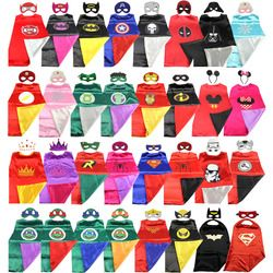 Super-héros cape (1 CAPE + 1 MASQUE) batman super Hero Costume pour Enfants Halloween Costumes De Fête pour Enfants superman spiderman