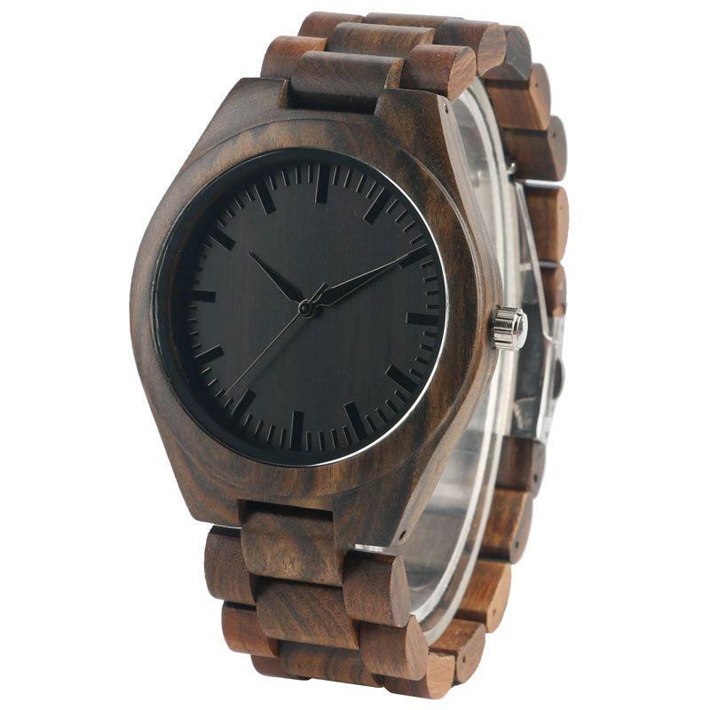 2017 горячие деревянные часы Для мужчин модные Креативные часы Повседневное дерева кварцевые натурального дерева полный наручные Для женщин...