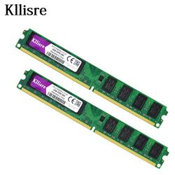 Kllisre 4 GB (2 pcs X 2 GB) DDR2 2 GB Ram 800 Mhz PC2-6400U 240Pin 1.8 V CL6 Mémoire De Bureau