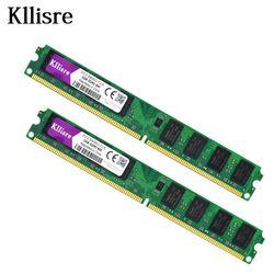Kllisre 4 GB (2 piezas X2GB) DDR2 2 GB RAM 800 MHz PC2-6400U 240Pin 1.8 V CL6 memoria de escritorio
