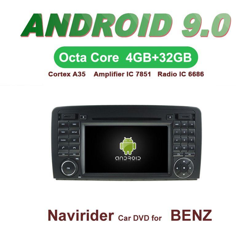 Android 9.0 octa core 4 GB RAM auto dvd player GPS navi steuergerät audio radio für MERCEDES-BENZ R KLASSE W251 R280 r320 R350 R500