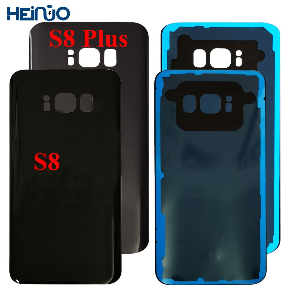 Back Cover For Samsung S8 G950F Back Glass Battery Cover Housing Rear Door For Samsung S8 Plus S8+ G955F Back Cover Chassis cove