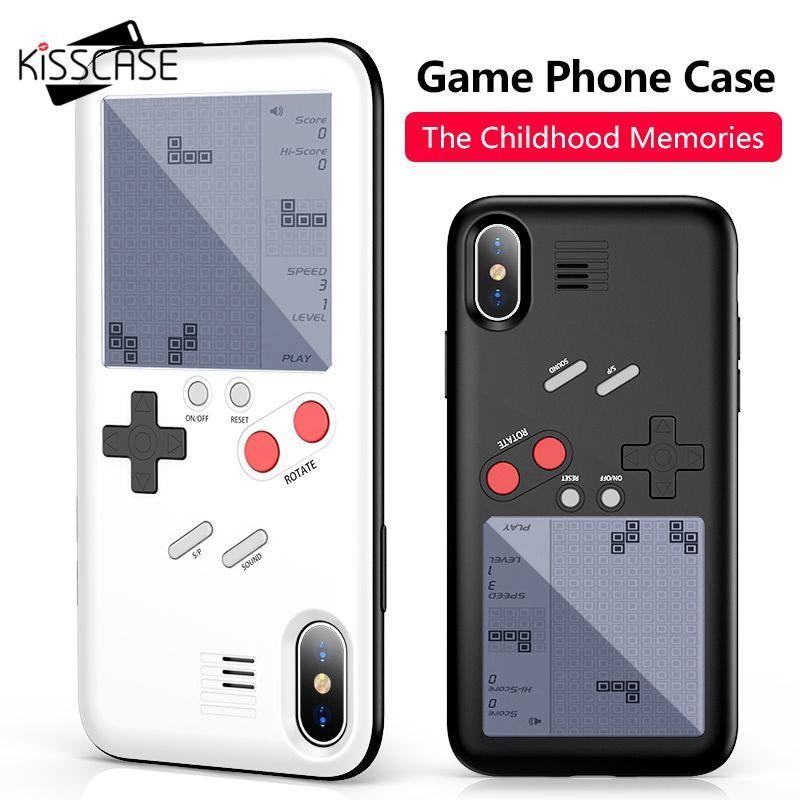 KISSCASE Game Machine Phone Case For iPhone X 6 6S Plus Cover Black Retro Game Console Case For iPhone 7 8 Plus X Capinha Fundas