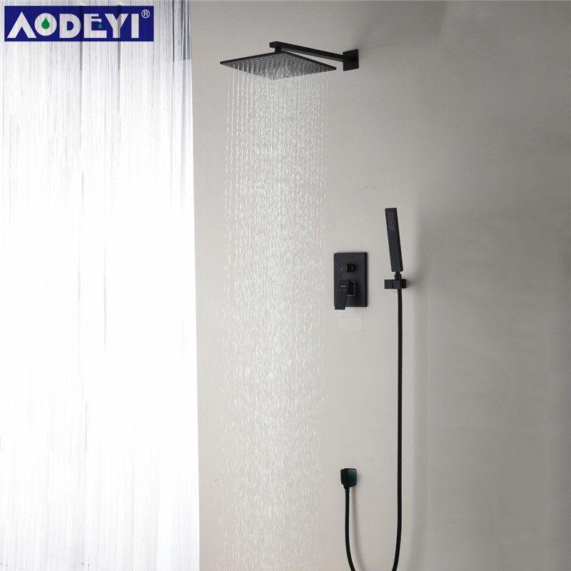 Messing Schwarz Dusche Set Badezimmer 8