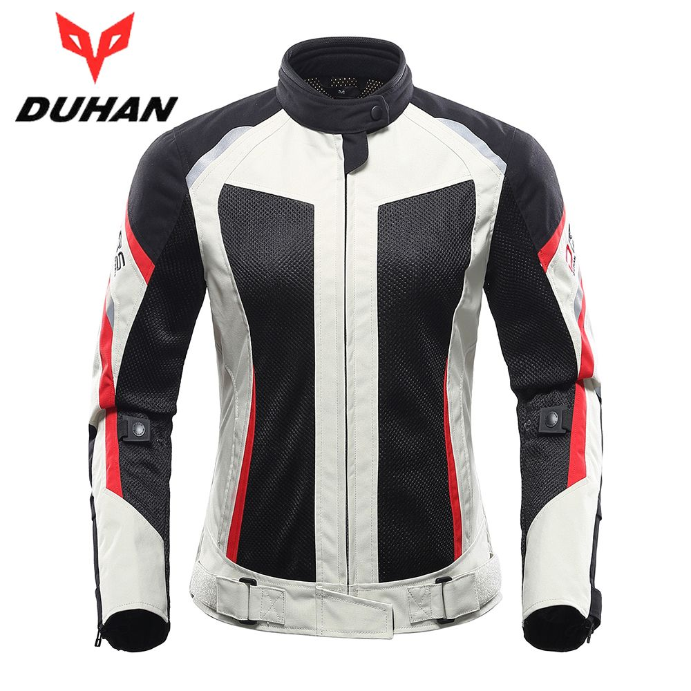 DUHAN Women <font><b>Motorcycle</b></font> Jacket Breathable <font><b>Motorcycle</b></font> Clothing Summer Women Moto Jacket And <font><b>Motorcycle</b></font> Pants Racing Clothes Suit
