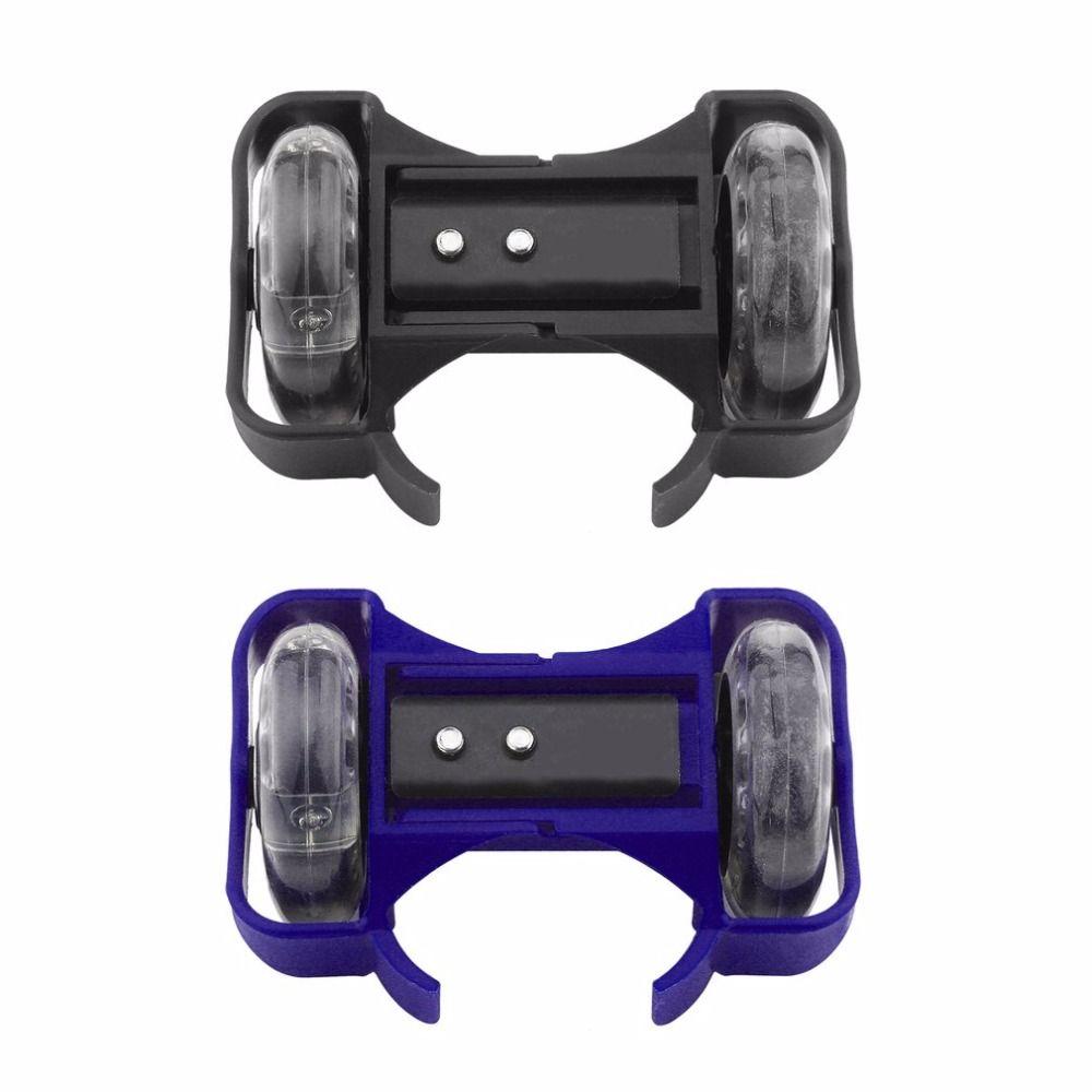 Blau/Schwarz Flashing Roller Skating Schuhe Kleine Wirbelwind Riemenscheibe Flash-Rad Rollschuhen Sport Rollschuhfahren Schuhe für Kinder neue