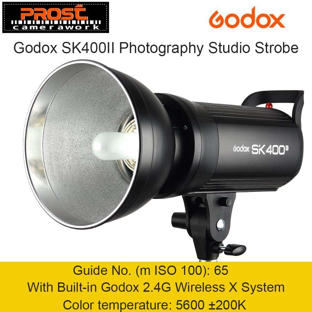 Godox SK400II 400W 400WS GN65 Professional Studio Flash Light Strobe Lighting with Built-in Godox 2.4G Wireless X System