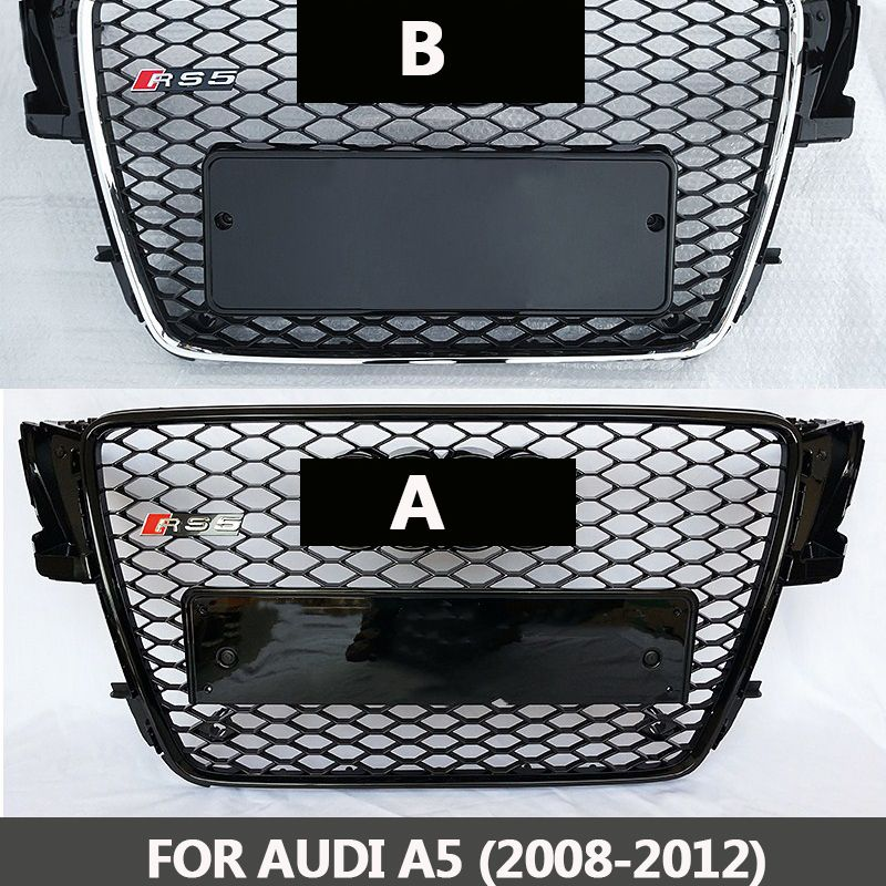 2008-2012 Grills For Audi A5 S5 ABS Black Painted Frame Mesh Grille Auto RS5 Sedan / Coupe / Convertible