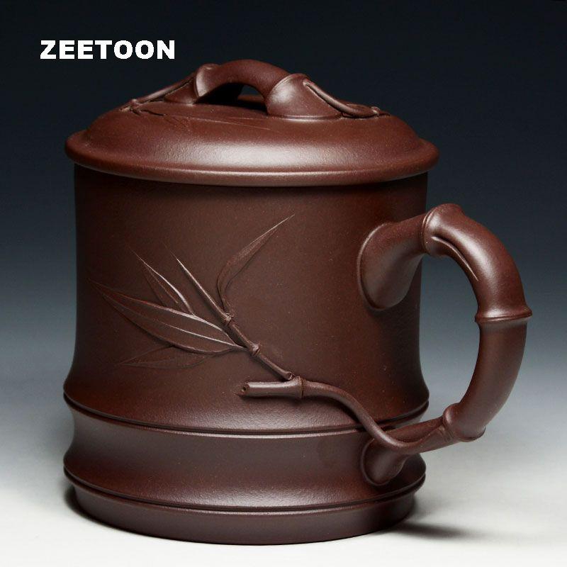 750 ml Hohe Kapazität Authentische Yixing Teetasse Chinesische Gesundheits Lila Ton Tasse Handgefertigte Keramik Kaffeetasse mit Deckel und Filter