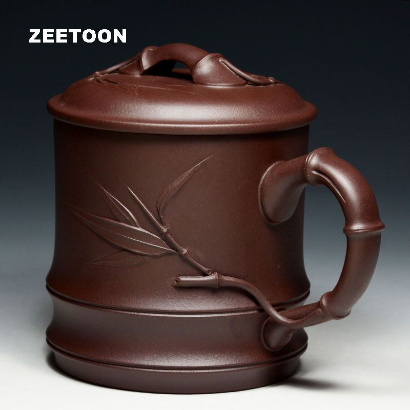 750ml High Capacity Authentic Yixing Teacup Chinese Health Care Purple Clay Cup Handmade Ceramics Coffee Mug with Lid and Filter
