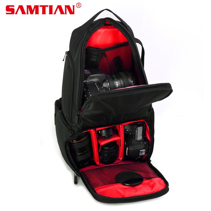 SAMTIAN Professional DSLR Camera Photo Bag Backpack Hiking&Traveling Camera Shoulder Bag Case For Canon Nikon Sony Gopro Hero 5