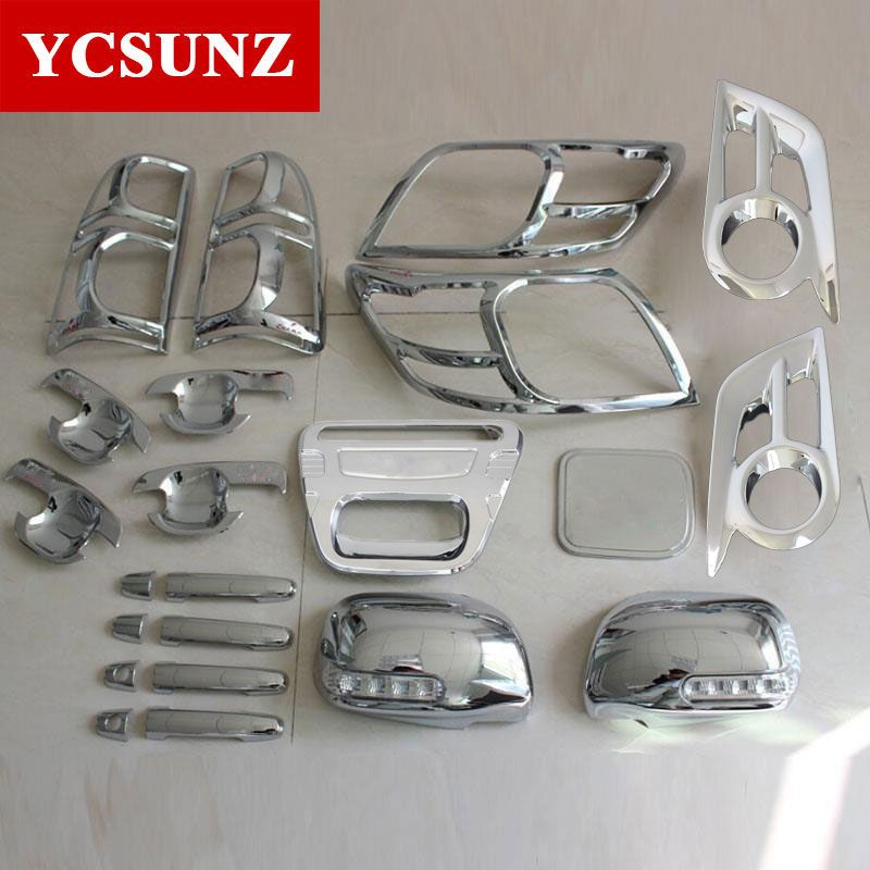 2012-2014 For Toyota Hilux Chrome Accessories ABS Chrome Kits For Toyota Hilux Vigo Car Styling Decorative Hilux Parts Ycsunz