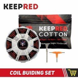 KEEPRED Vape Cotton electronic cigarette organic cotton 8 in 1 prebuilt coil Kit vs bacon kendo cotton for OBS ENGINE RTA