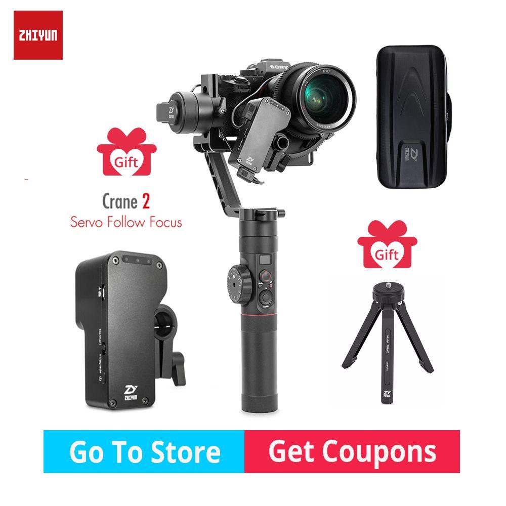 Zhiyun Kran 2 gimbal 3-Achse DSLR 3,2 KG bär Kamera Stabilisator withfollow focus für DSLR Spiegellose Kamera Canon PK MOZA DJI