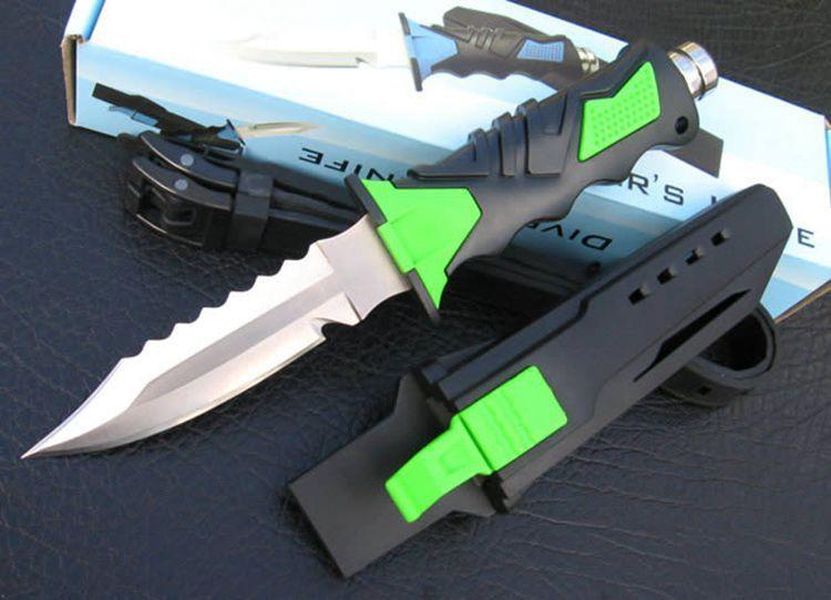Leggings de plongée tactiques multi-usages professionnels de haute qualité couteau à lame fixe outils portables de survie en plein air