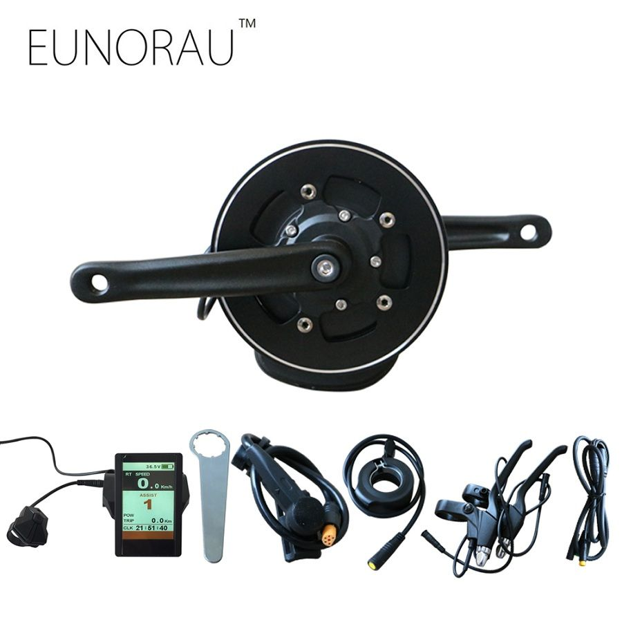 Free shipping electric bike kit 48V500W 36V350W Tongsheng TSDZ2 mid drive motor kit with torque sensor