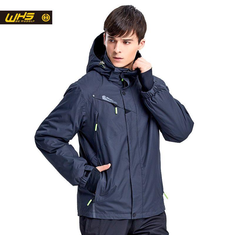 WHS New Men ski Jackets brands Outdoor Warm Snowboard Jacket coat male <font><b>waterproof</b></font> snow jacket Man sportswear winter clothes