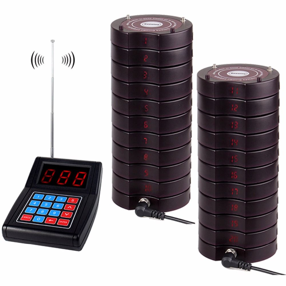 RETEKESS Restaurant Pager Buzzer Quiz Call System Beeper 999 Channel Wireless Calling Paging Queuing System Restaurant Equipment