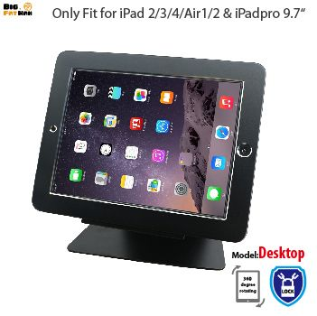 Socle de bureau de sécurité pour iPad 2/3/4 air1 2 Pro 9.7 tablette avec support de verrouillage support d'affichage support de montage sur table antivol
