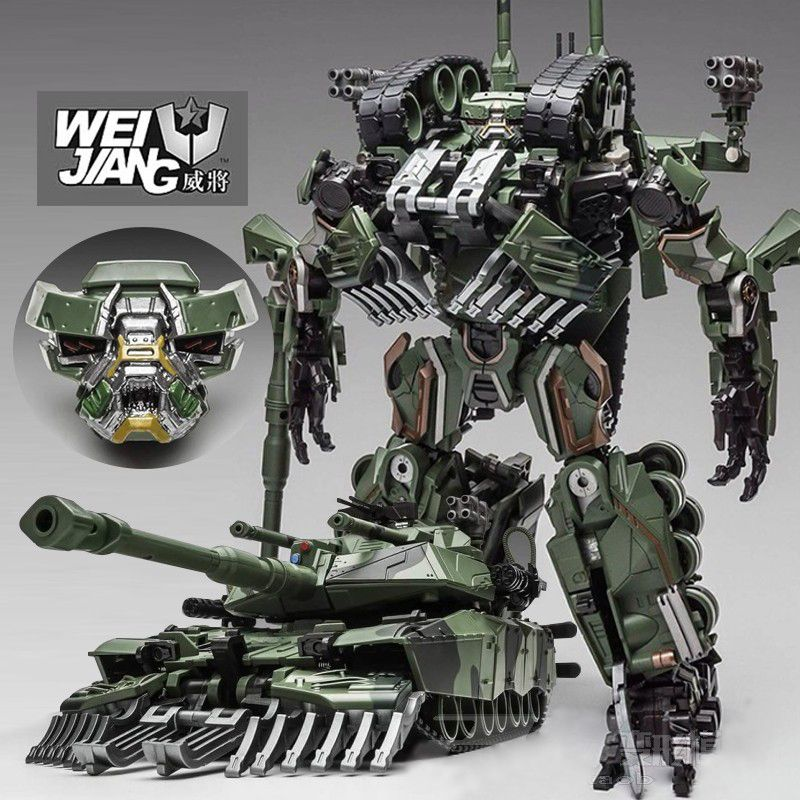 Brawl Transformation Alloy Oversize SS Leader Camouflage Tank M1A1 Mode KO Action Figure Robot Toys