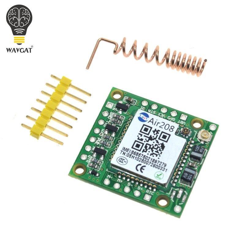 WAVGAT Kleinste GPRS GSM Modul Air208 Micro SIM Karte Core BOard Quad-band TTL Serielle Port kompatibel SIM800L SIM800C
