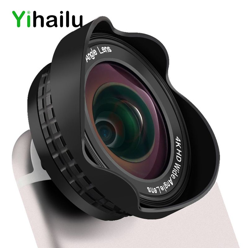 3 in 1 Universal 4K HD Wide Angle 198 Degree Fish Eye 20X Macro Lens Clip Smart Phone Lens For iPhone For All Phone