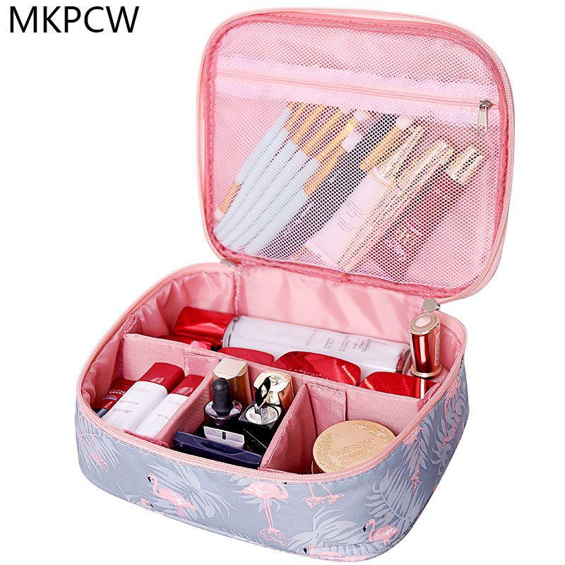 Neceser waterproof Women Makeup bag Cosmetic bag Case Travel Make Up Toiletry bag Organizer Storage pouch set box professional