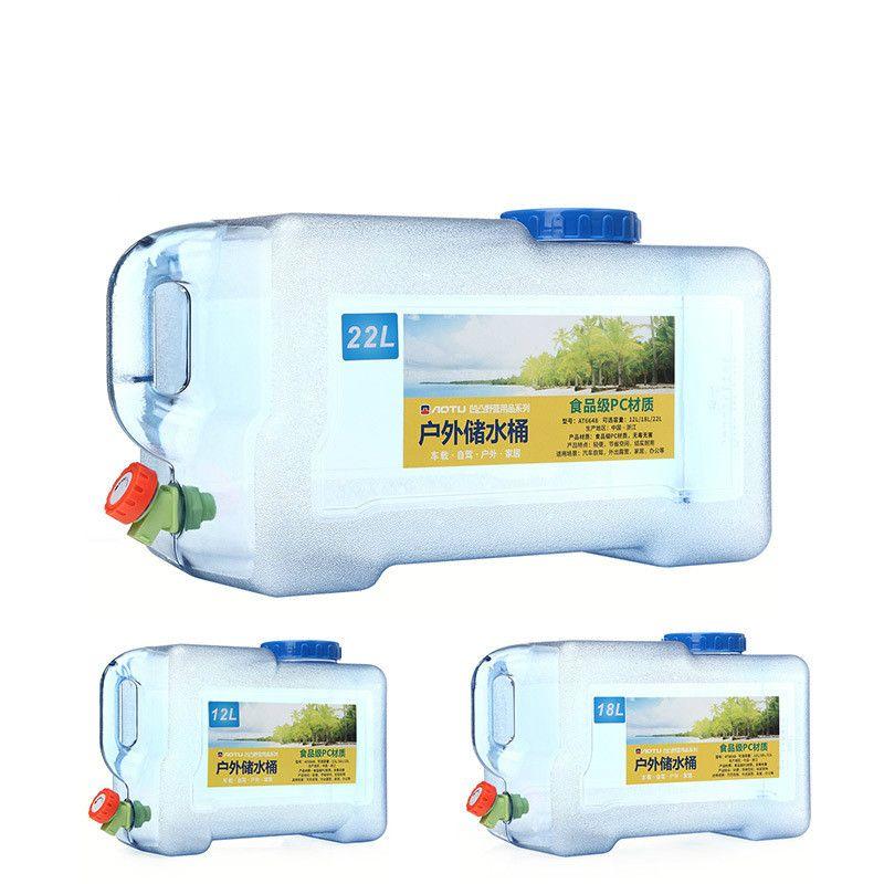 Bpa-frei Tragbare Outdoor 12L 18L 22L Große Große Kapazität Wasserbehälter Wassertank Camping Picknick Fahren Wasserkocher Mit wasserhahn