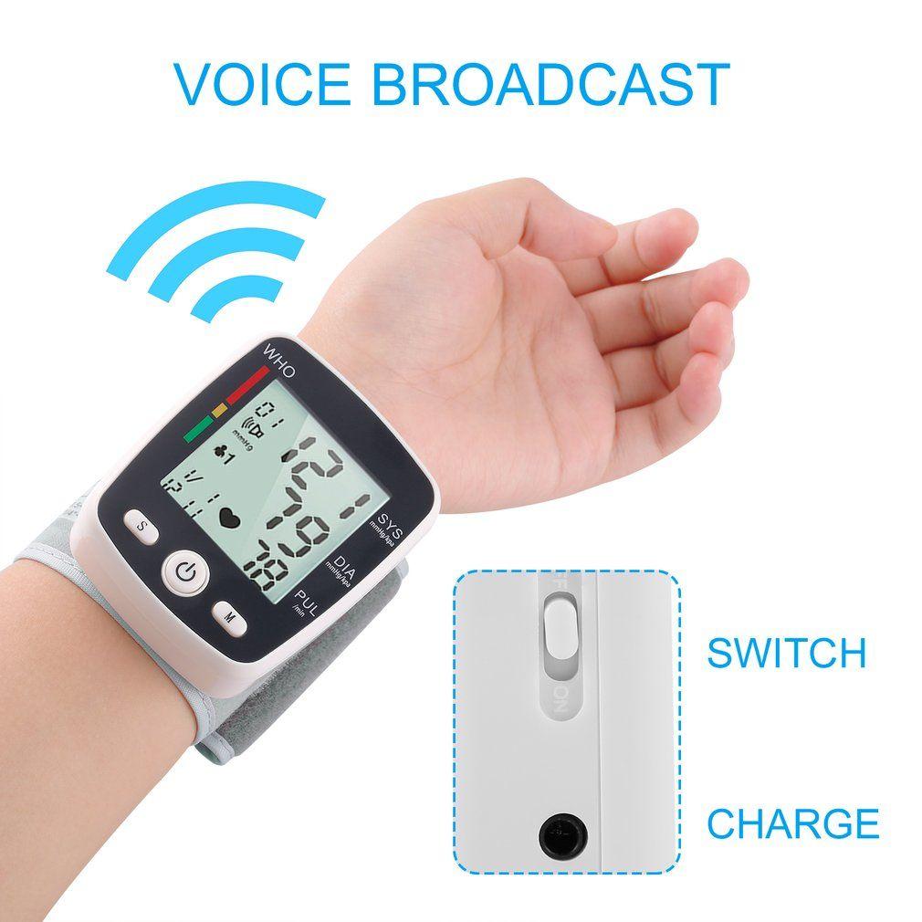 ЖК-дисплей цифровой Дисплей Автоматические наручные Приборы для измерения артериального давления Мониторы с манжетой бытовой тонометр то...