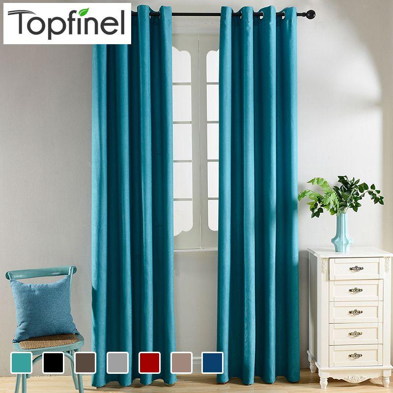 Topfinel solide rideaux occultants pour cuisine salon chambre tissu velours pour rideaux pour traitements de fenêtre rideaux drapé