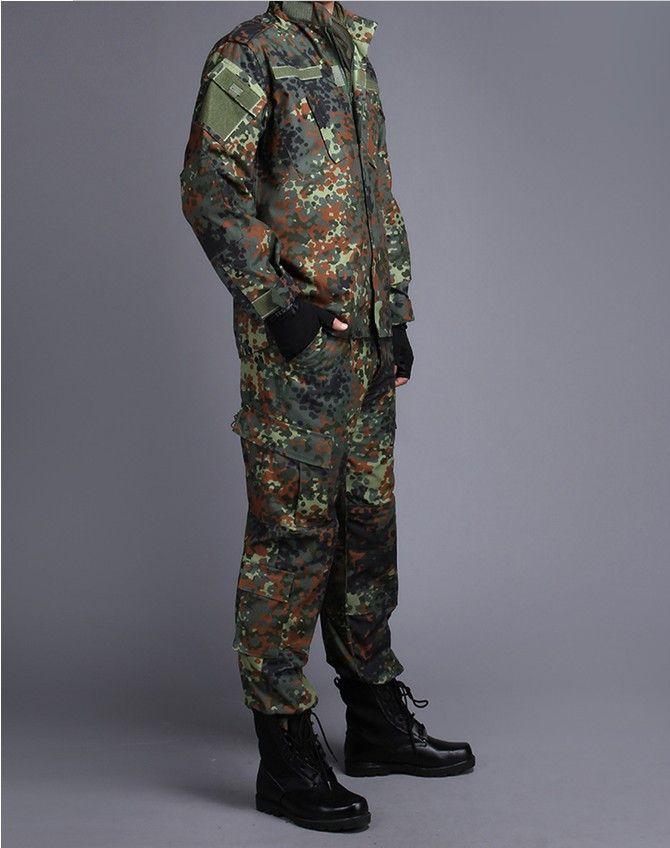 DEUTSCH ARMEE WOODLAND CAMO Anzug ACU BDU Militärischen Camouflage Anzug sets CS Kampf-taktische Paintball Uniform Jacke & Hosen