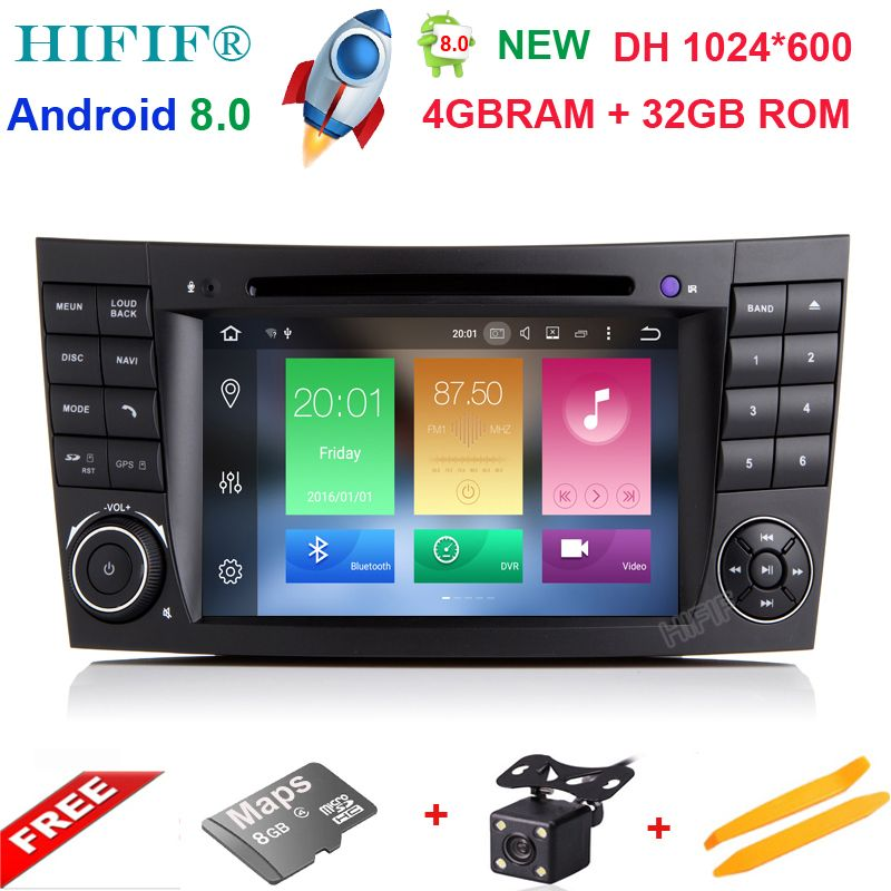 Android 8.0 Two Din 7 Inch Car DVD Player For E-Class/W211/Mercedes/Benz/CL Octa Cores 2G RAM 32G ROM 3G/4G WIFI Radio GPS