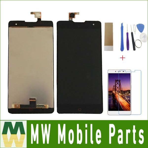 Black Color 1PC / Lot For ZTE Nubia Z7 MAX NX505J LCD Display LCD Sreen +Touch Screen Touch Digitizer Assembly with Free Kit