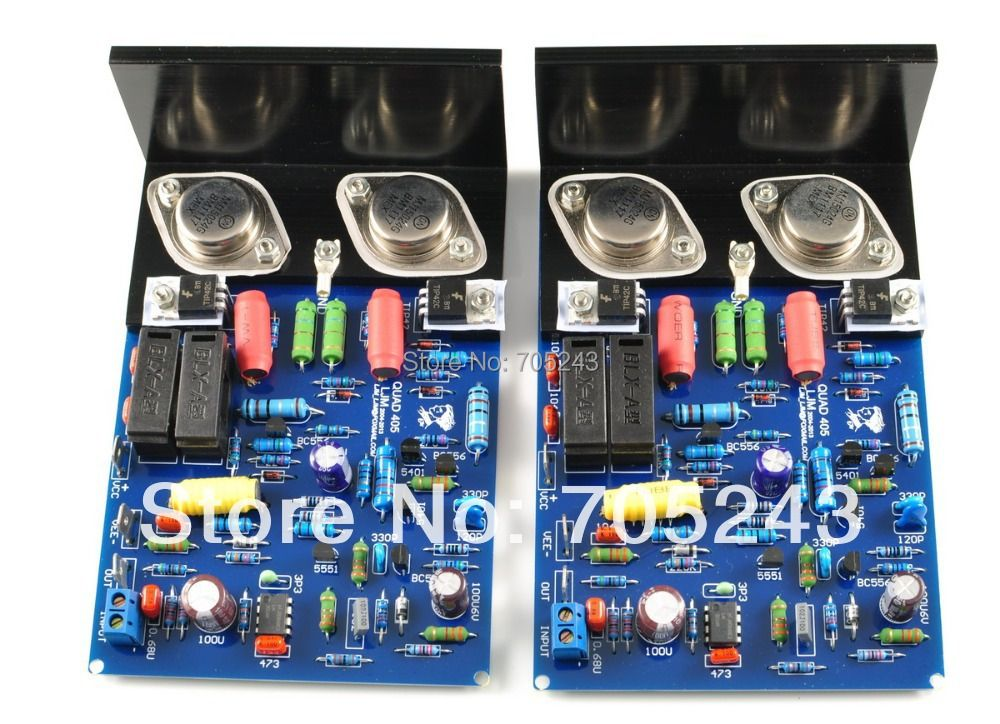 pair classic amplifier , Quad 405 clone (metal transistor )assembled&tested