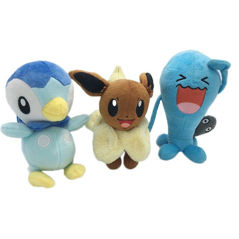 Kawaii Peluche Pocket Monster Jouets Piplup Eevee Génie Wobbuffet Enfants Cadeau de Jouet Enfants Personnage de Dessin Animé En Peluche Animaux Poupées