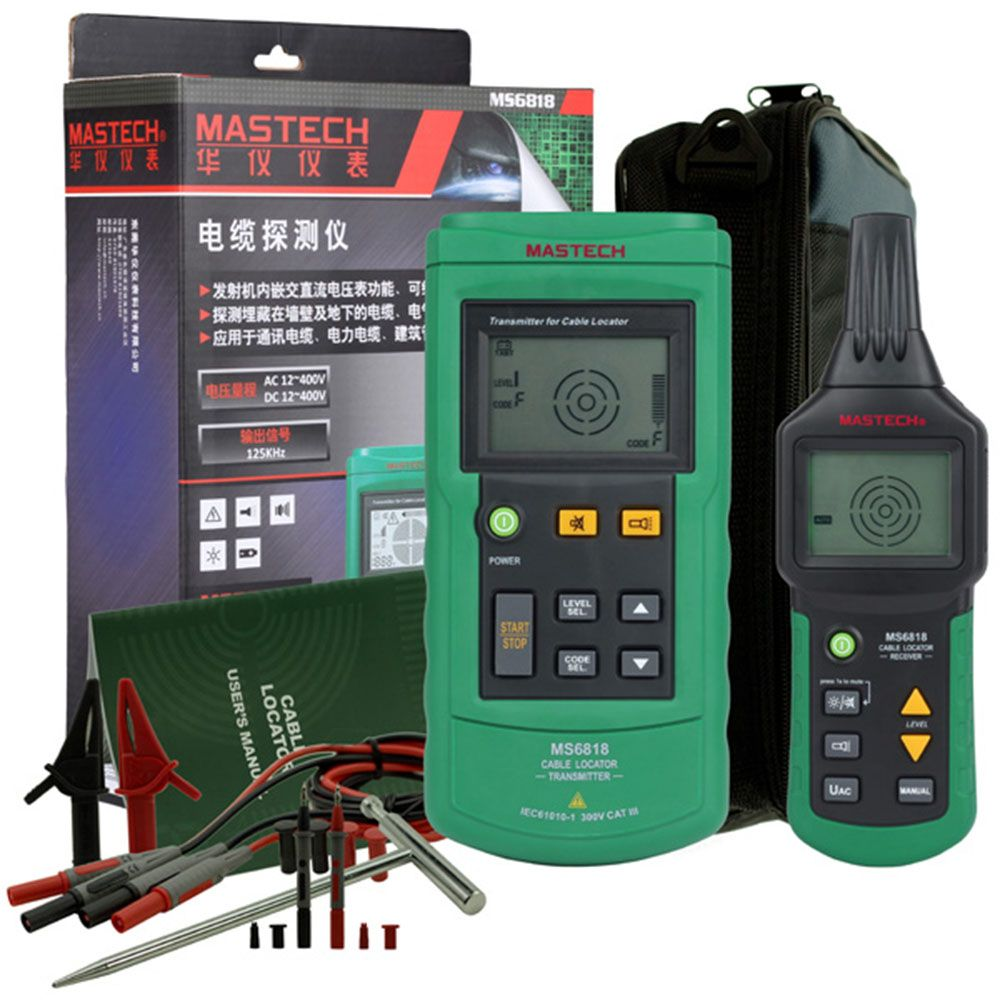 MASTECH MS6818 Cable Tester Advanced Cable Tracker Pipe Locator Detector Network Telephone Cable LAN Ethernet Wire Tester