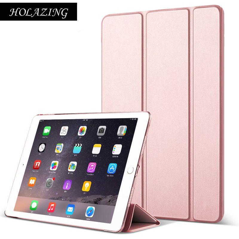 Оптовая продажа выпуск новый дизайн ультра тонкий легкий смарт-чехол для iPad Air 2 + полупрозрачный матовый защитный чехол