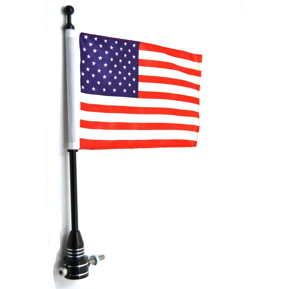 1 PC Rear Luggage Rack Flag Mount Pole USA American Flag For Harley Sportster XL 883 1200 Touring Road King Glide&FLHT