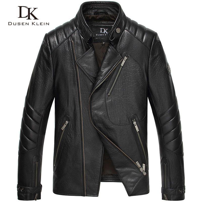 Dusen Klein Brand Men Genuine Leather Jacket Autumn Outerwear nature Sheepskin Coat 15L1451