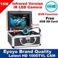 Eyoyo Original 15M HD 1000TVL Professional Underwater Fishing Camera Fish Finder Video Recorder DVR 7