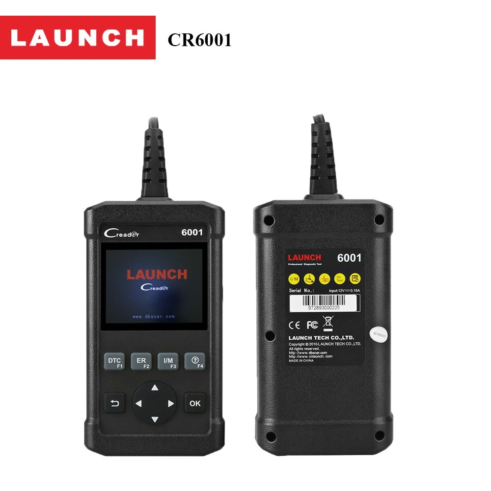 Launch CReader 6001 OBD2 Scan Tool Code Reader with Control of the on-Board System and Print data via PC