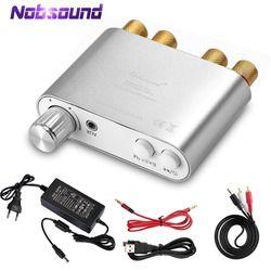 2018 Terbaru Nobsound NS-10G TPA3116 Bluetooth 4.0 Mini Digital Amplifier Stereo Hai FI Daya AMP 100 W Perak