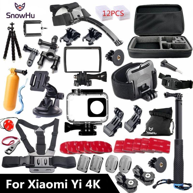 SnowHu For Xiaomi Yi 4K Accessories Monopod Stick Octopus Tripod For Xiaomi Yi 4K/4K+ Lite Action International Camera 2 II GS27